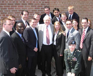 Whitman MBA students with Warren Buffett