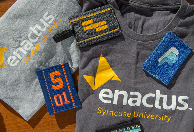 T-shirts with the Enactus logo