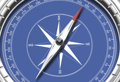 This picture is of a compass.