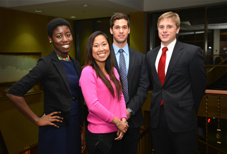 smiling group of students in professional attire
