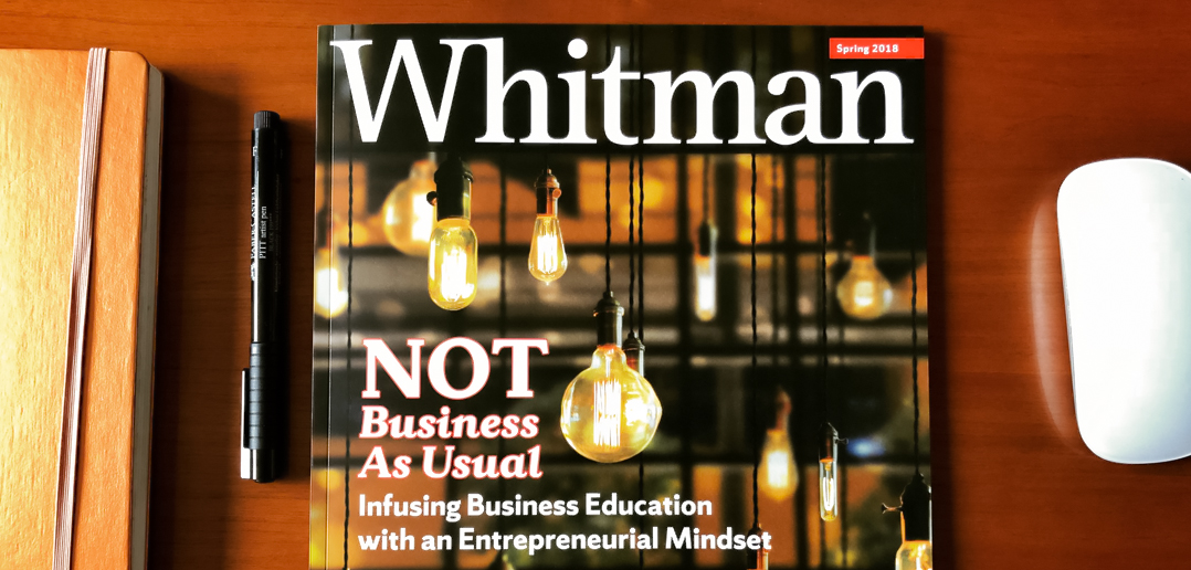 Whitman Magazine on a desk