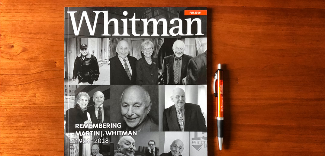 Whitman magazine and pen