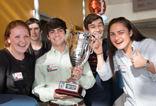 Students with the Goodman Cup