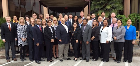 A group of Executive Comptroller Students and program staff