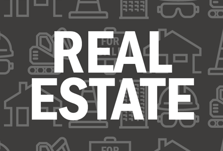Banner that says real estate