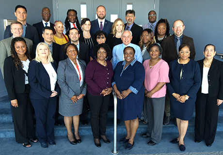 The 2019 group of Executive Comptroller students and program staff