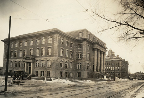 Historical view of the Martin J. Whitman School of Management building