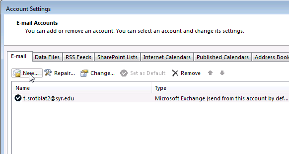 Outlook - Add proxy mailbox step 3
