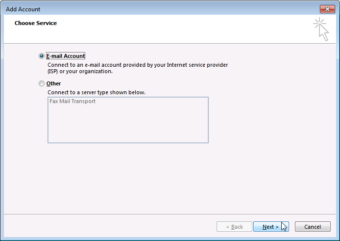 Outlook - Add proxy mailbox step 4