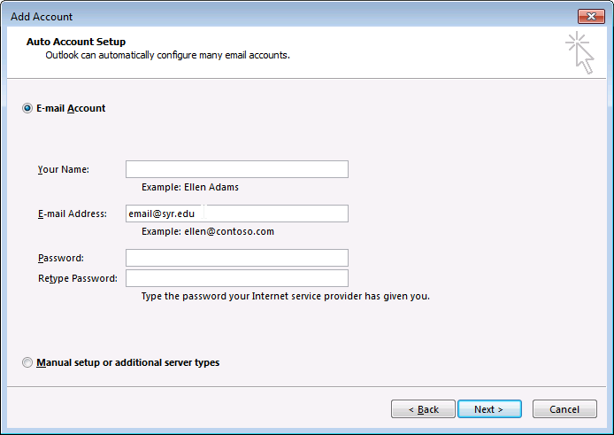 Outlook - Add proxy mailbox step 5