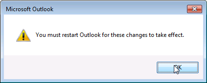 Outlook - Add proxy mailbox step 8