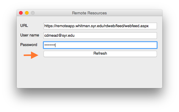 RemoteApp and RDWeb - Instructions for Mac OS X Users