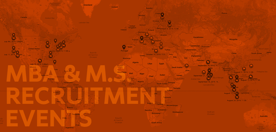 MBA & M.S. recruitment event map